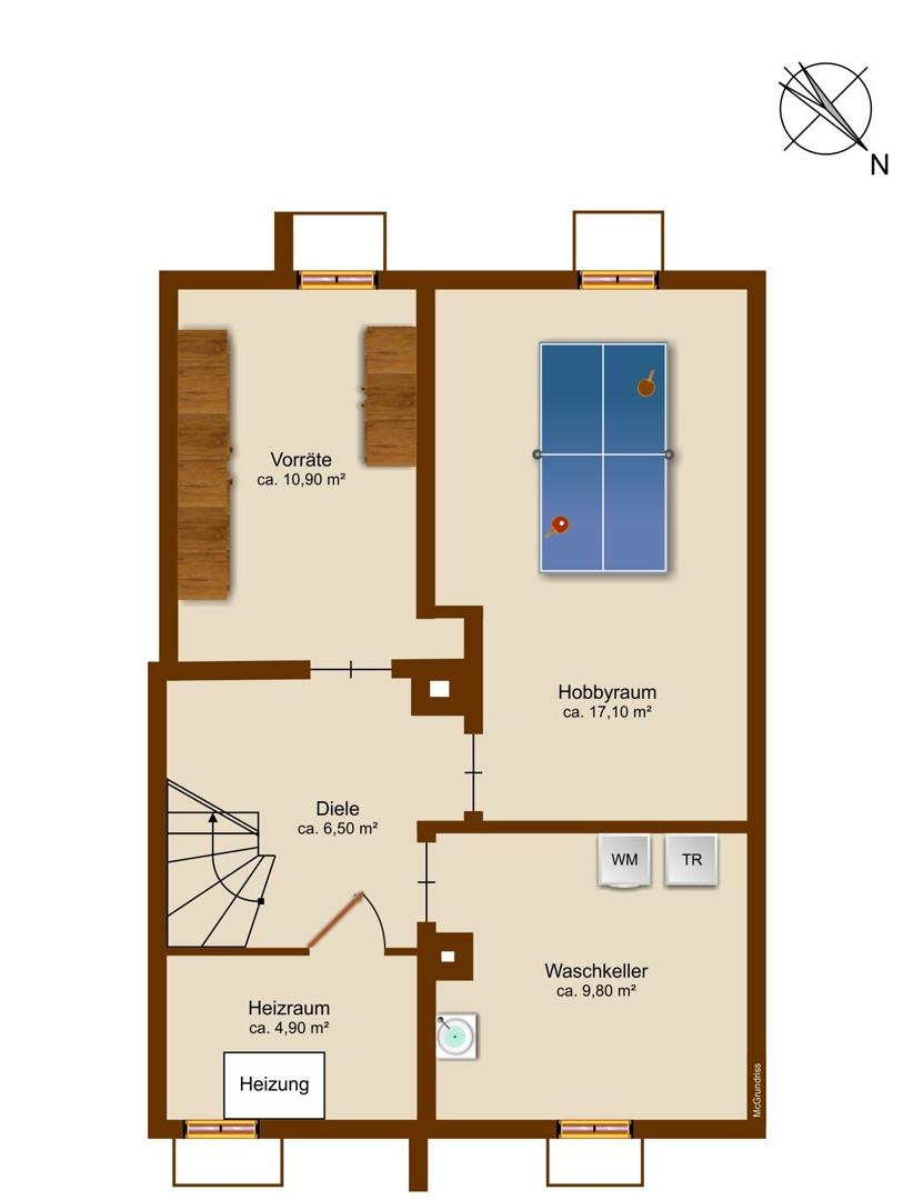 Kellergeschoss Grundriss